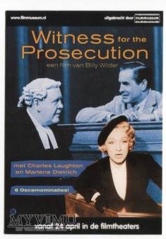 MARLENE Dietrich Świadek Oskarżenia Holandia