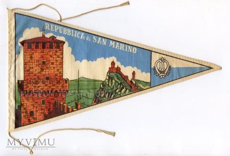 Duże zdjęcie Proporczyk souvenir - Włochy San Marino 1963