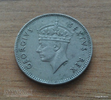 50 Cents-British East Africa 1948