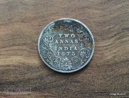 2 ANNAS-INDIE BRYTYJSKIE 1875