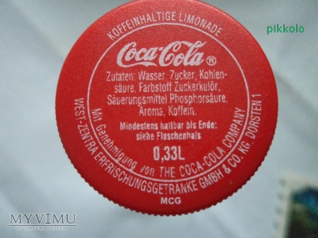 butelka po napoju Coca-Cola