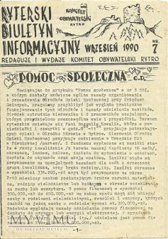 Duże zdjęcie Ryterski Biuletyn Informacyjny