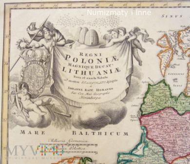 Stara mapa Rzeczypospolitej Obojga Narodów