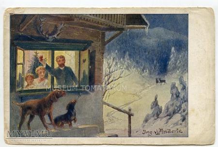 Duże zdjęcie Dachshund - Jamnik świąteczno-okolicznościowy 1942