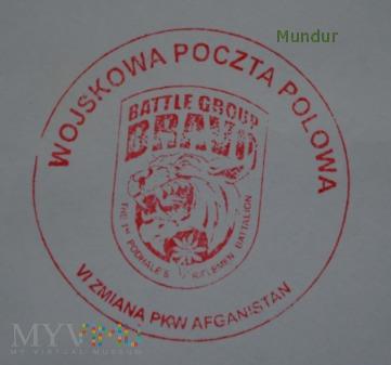 Wojskowa Poczta Polowa - koperta VI zmiana PKW Afg