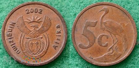 South Africa, 5 cents 2002 Ningizimu