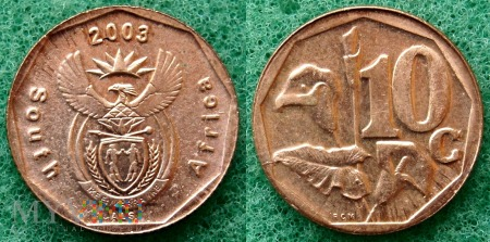 South Africa, 10 cents 2003