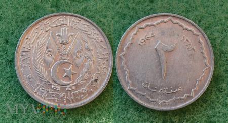 Algieria, 2 centimes 1964