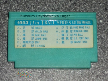 11 in 1 BALL SERIES 1993 Kartridż Gra Pegasus