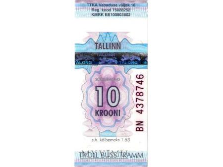 Bilet autobusowy z Estonii.