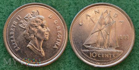 Kanada, 10 CENTS 1993