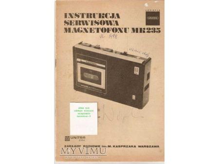 Instrukcja serwisowa magnetofonu MK-235