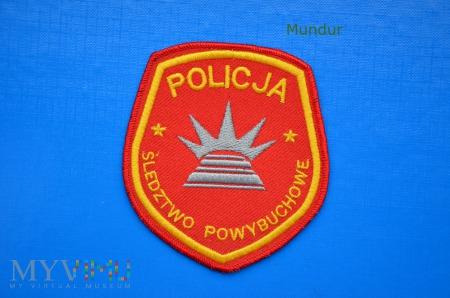 Oznaka policyjna ŚLEDZTWO POWYBCHOWE