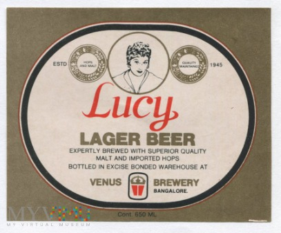 Bangalore, Lucy lager beer