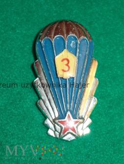 Skoczek spadochronowy 3 klasy - Czechosłowacja