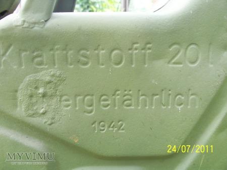 KANISTER WEHRMACHT 20L - 1942 - PRODUKCJA AUSTRIA