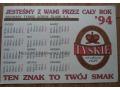 1994 rok - kalendarz Tyskie