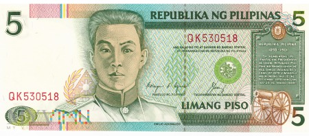 Filipiny - 5 pesos (1992)