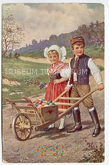 Wesołych Świąt Wielkanocnych - lata 20-te XX w.