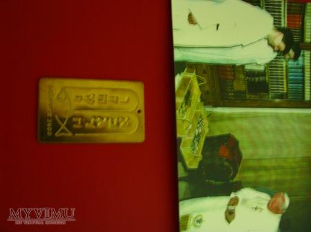 złota tabliczka z dekalogiem