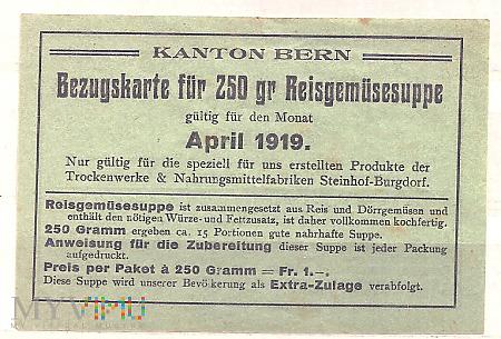 8.5a-Kanton Brno 1919 kartka żywnościowa