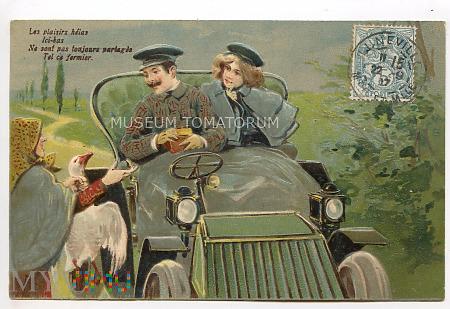 On, Ona, automobil i gęś (martwa) - obieg 1907