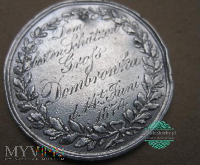 Duże zdjęcie Dąbrówka Wielka. Medal strzelecki z 1874. Piekary