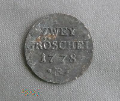 Dwa greszele Zwey Groschel 1778