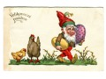 Wielkanoc Osek Krasnal jajo wielkanocne pocztówka