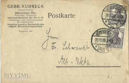 Geber. Kurreck Konigsberg 1920 r.
