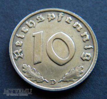 Duże zdjęcie 10 Reichspfennig 1937
