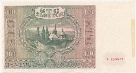 100 złotych 1 sierpnia 1941 rok Ser. A