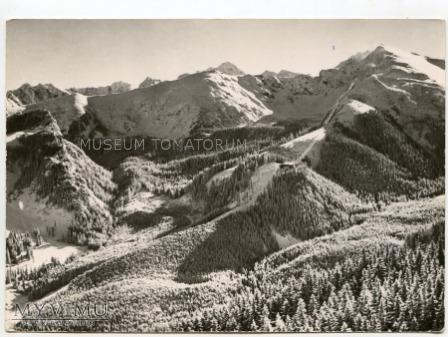Kolejka na Kasprowy Wierch - widok ogólny 1963