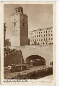 Warszawa - Trasa W-Z (Tunel od wschodu) - 1950d