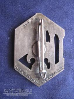6e R.E.I., insignes portés de 1939 à 1942.