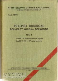 Przepisy ubiorcze żołnierzy Wojska Polskiego tom I