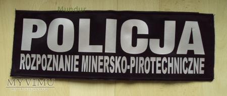 Emblemat odblaskowy POLICJA rozpoznanie min-pirot