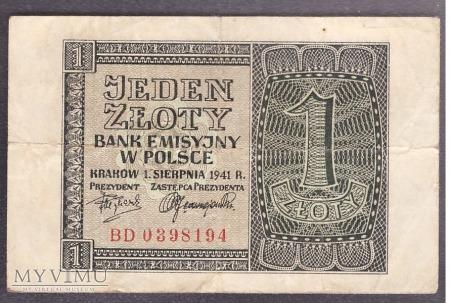 1 złoty 1941r.