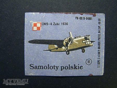 Etykieta - Samoloty polskie LWS-4 Żubr.1936