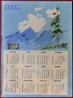 PTTK - kalendarzyk 1964 r.