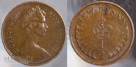 Wielka Brytania, half penny 1977