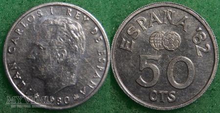 Hiszpania, 50 centów 1980