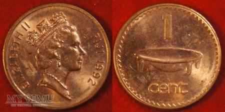 Fidżi, 1 cent 1992