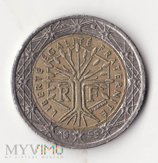 Francja 2 euro 1999