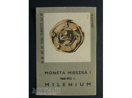 Etykieta - Moneta Mieszka I 960 - 992 r.