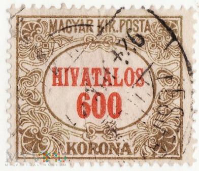 Znaczek Węgierski z 1924r 600 koron