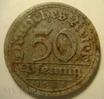 50 pfennig 1921 ,F