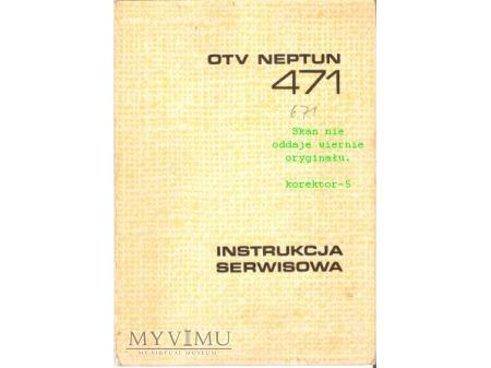 Instrukcja serwisowa TV NEPTUN 471