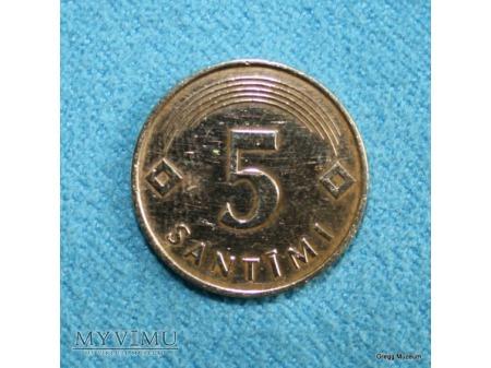 5 SANTIMI-ŁOTWA 1992