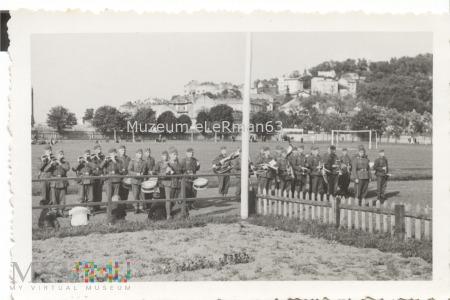 Niemiecka orkiestra wojskowa w Przemyślu.